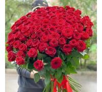 Букет роз 101 Акция!  + быстрая доставка по Киеву
